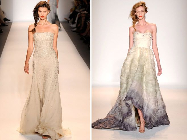 Gorgeous ombre and beaded wedding dresses from Spring 2011 Lela Rose collection