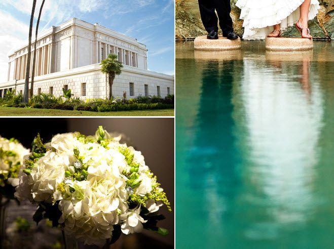 Outdoor summer wedding in Phoenix, AZ- ivory and green fresh flower bridal bouquet
