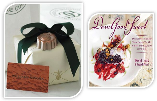 Two great giveaways, two lucky winners! $200 W-S gift card & delicious Dam Good Sweet cook book