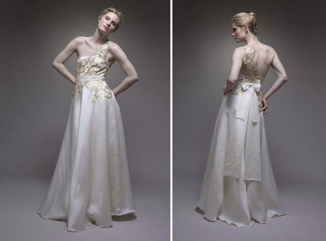 Gold Embroidery Wedding Dress Wedding Dress With Gold