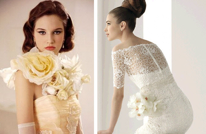Customize your simple wedding dress with vintage embellishments and