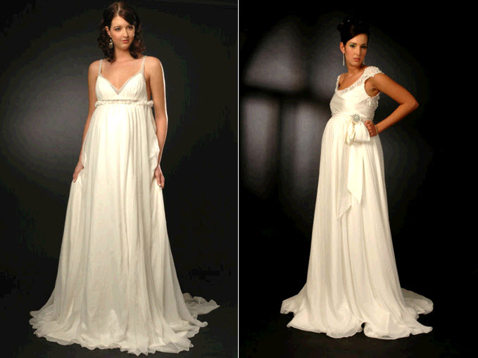 Maternity wedding dresses for expectant mothers by Sarah Houston
