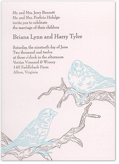 Nature-inspired wedding invitation design