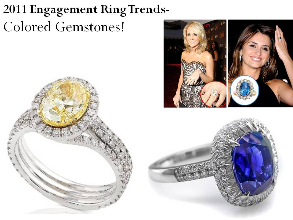 Credit 2011 Engagement Ring Trends Colored Gemstones like Carrie