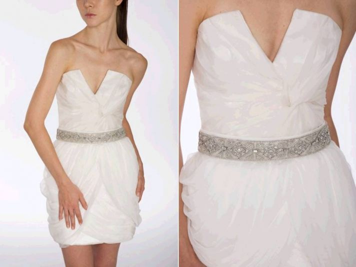 add sparkle to your wedding dress with a chic bridal belt