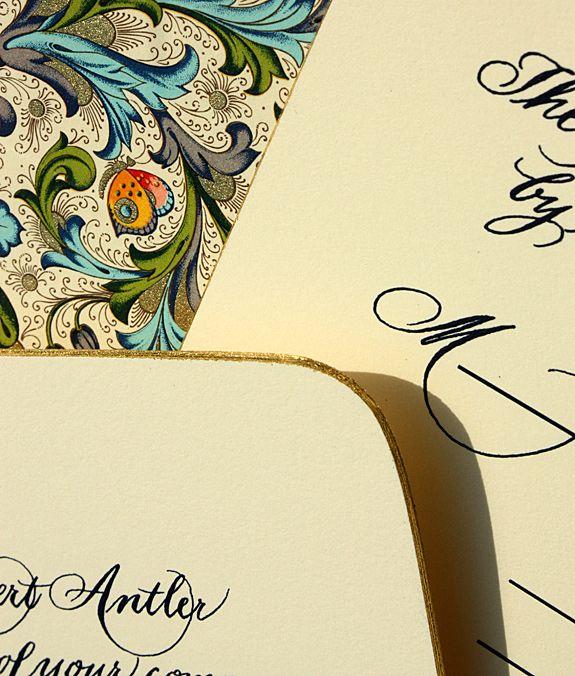 On-trend wedding invitation font for 2011- cursive and vintage-inspired script
