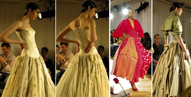 Couture gowns made from unexpected recycled materials