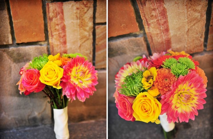 portland-oregon-vineyard-wedding-garden-outdoor-bright-wedding-flowers-pink-yellow-green-bridal-bouqet