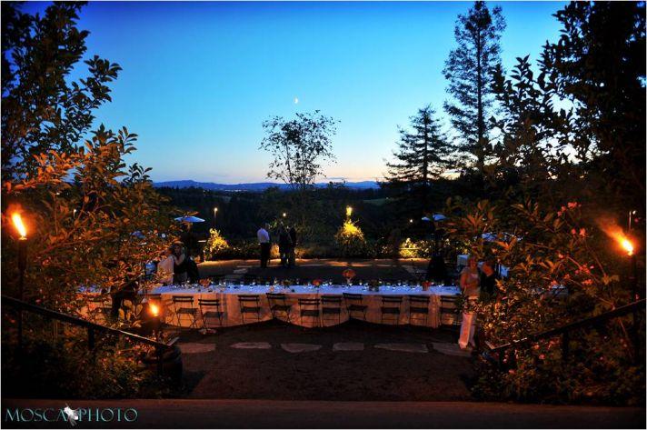 Gorgeous Portland, OR vineyard wedding venue during sunset