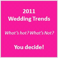 2011 wedding trends survey from onewed