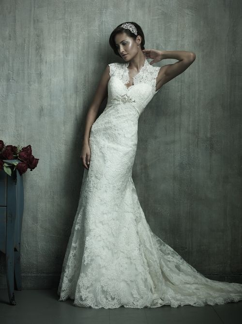 All lace mermaid 2011 wedding dress by Allure Bridals
