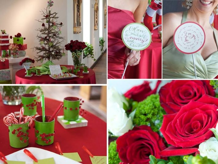 A Christmas tree with tags for guests to write wedding wishes- in place of traditional guest book