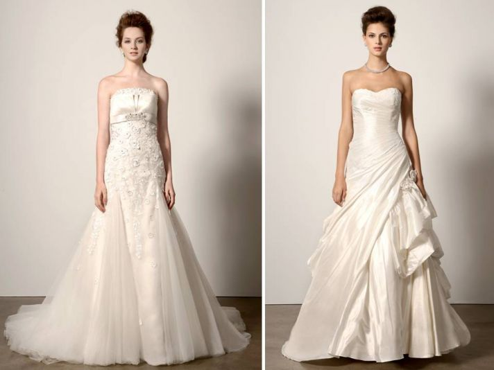 A-line ivory wedding dresses from Ines di Santo 2011 bridal collection