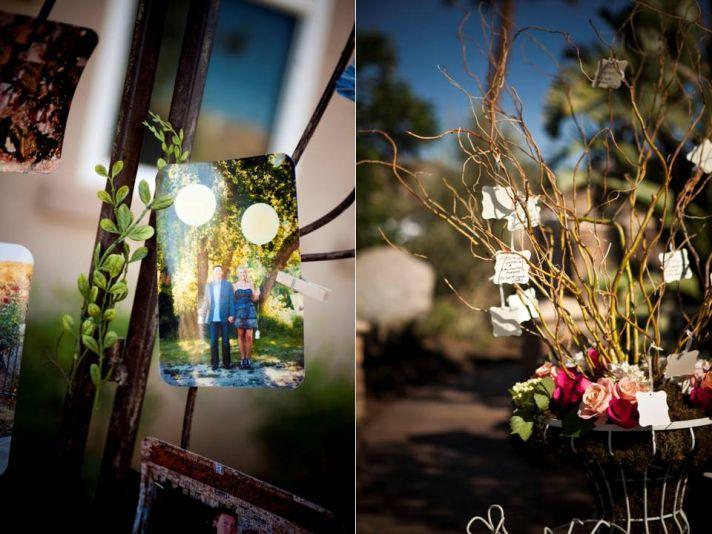Outdoor California wedding- wedding ceremony decor, florals and wish tree