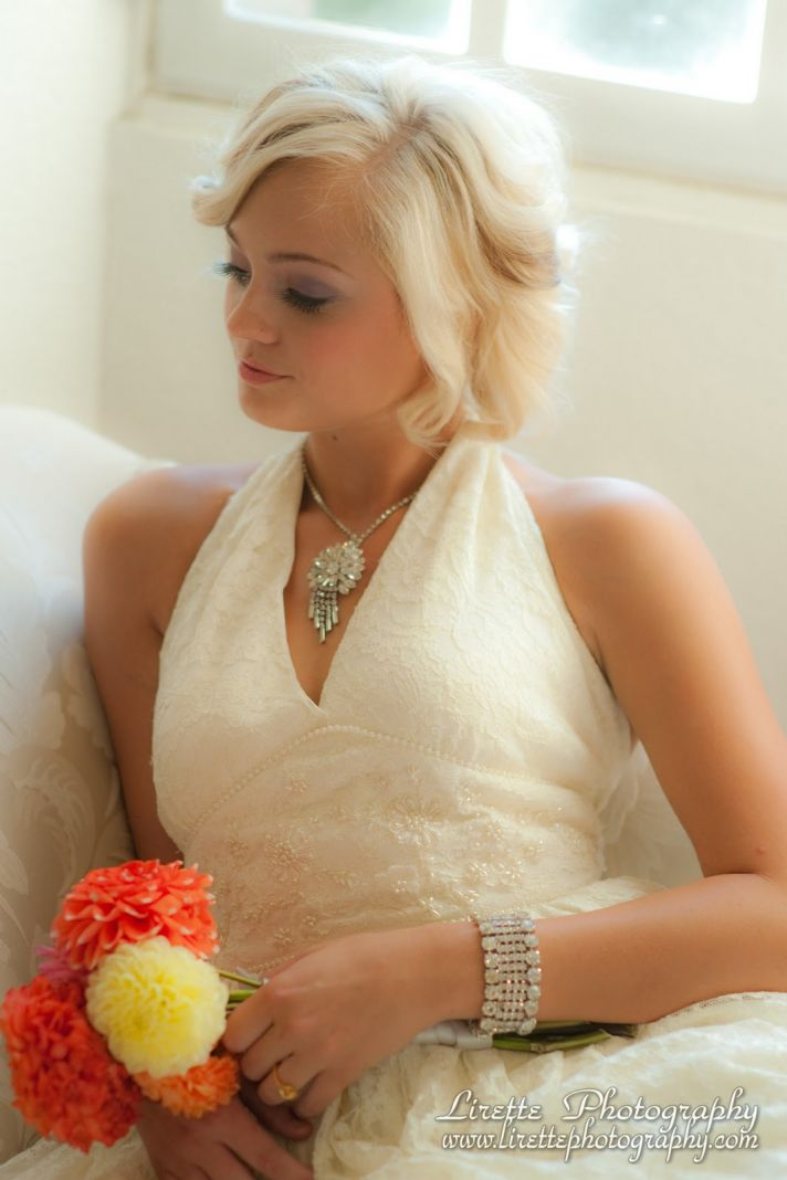 Vintage-inspired bridal jewelry set- dazzling cuff and necklace