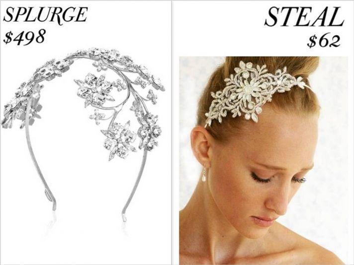 Gorgeous leaf design rhinestone bridal headband