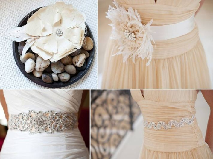Stunning handmade bridal flowers, bridal belts, and accessories