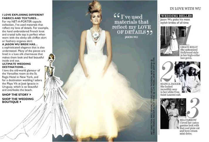 Ultra modern designer Jason Wu launches bridal line for Net-a-Porter