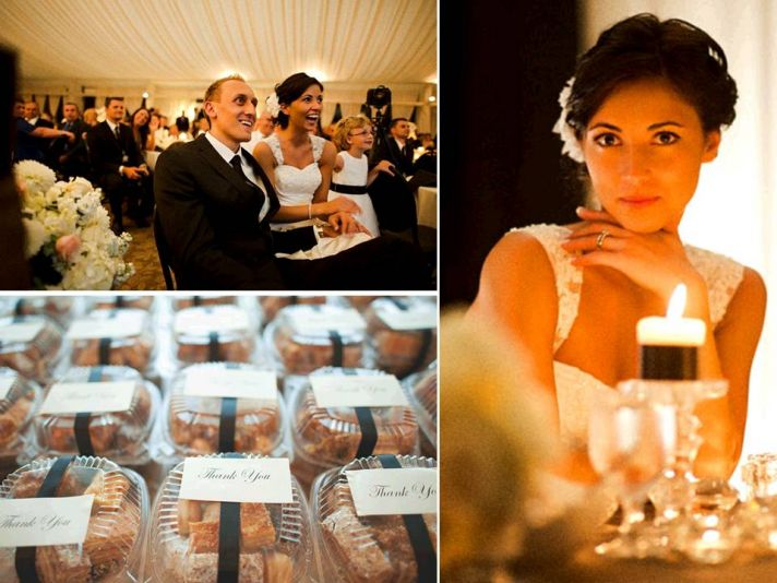 Lots of candlelight brings romance to Portland, OR wedding reception venue