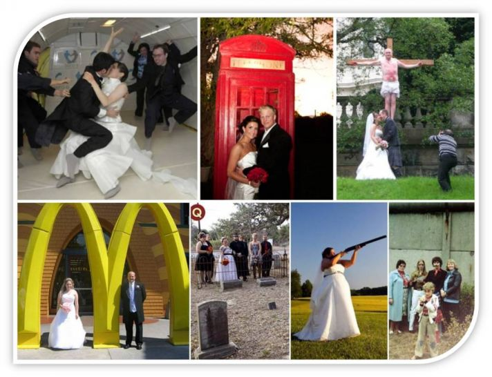 Weird wedding venues- McDonald's, a phone booth, in space, at a firing range