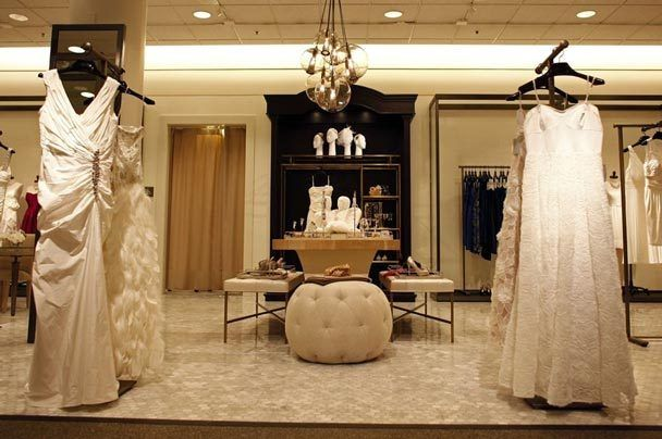 Inside a Nordstrom bridal salon with romantic and modern wedding dresses