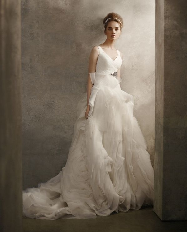 V-neck princess 2011 wedding dress from White by Vera Wang
