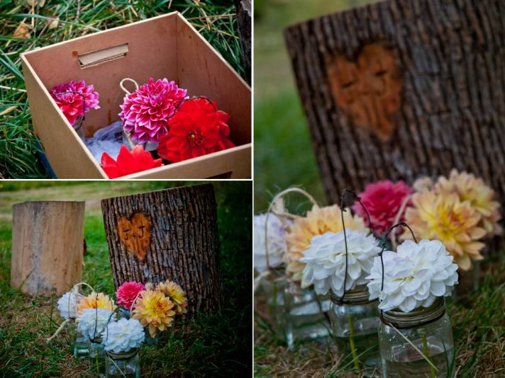 Colorful romantic wedding flowers for DIY centerpieces