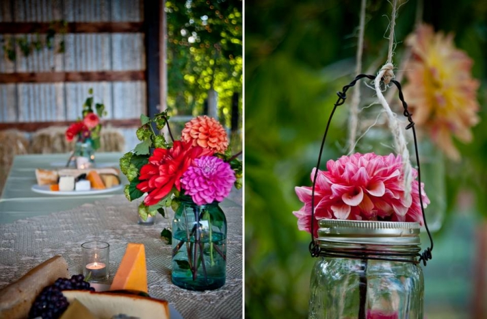 diy-wedding-flower-arrangements-outdoor-wedding-wedding-reception-dinner