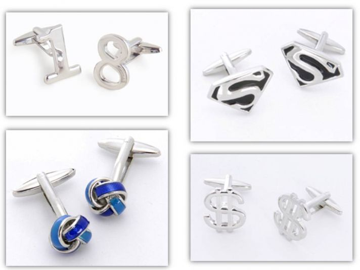 Sterling silver cufflinks for the groom