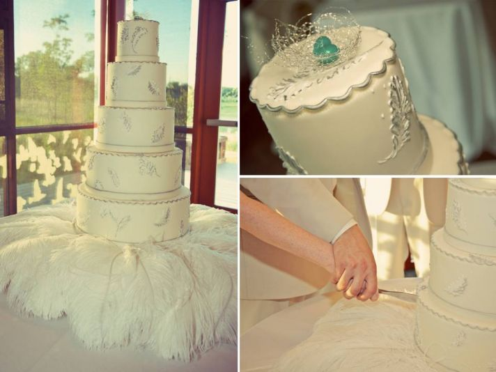 Classic, romantic ivory 5-tier wedding cake