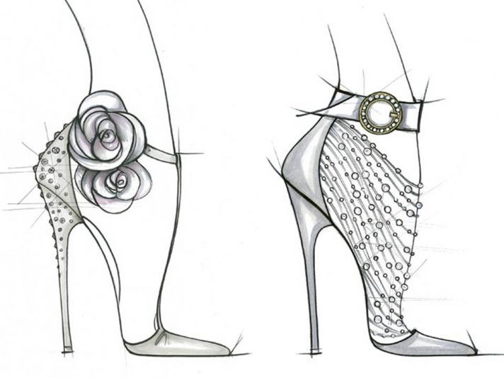 Ivanka Trump's sketches of Kate Middleton's wedding day heels