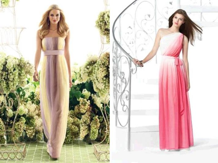 Ombre bridesmaids dresses for Spring weddings by Dessy