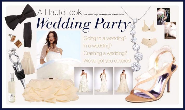 Score huge discounts on designer wedding dresses and accessories at Haute Look