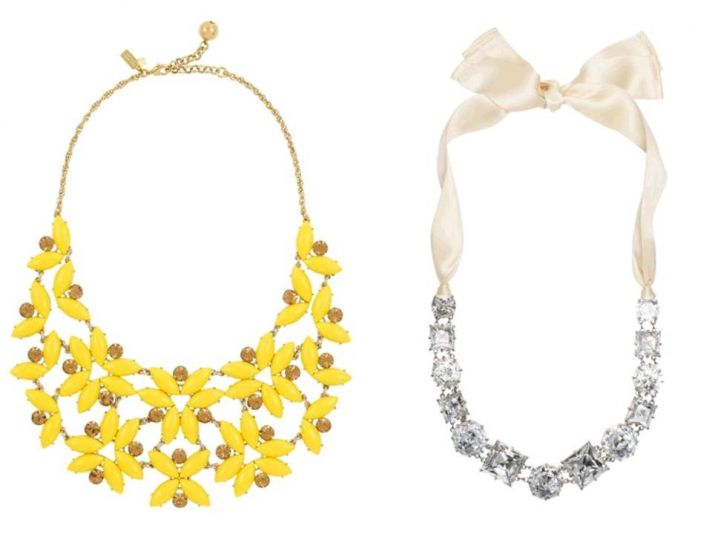 Make a statement with one of these gorgeous bridal necklaces from Kate Spade