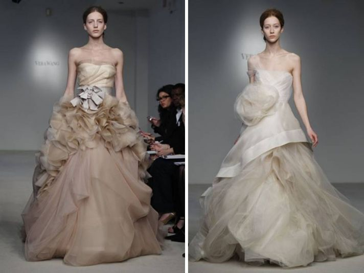 Dramatic 2012 ballgown wedding dresses by Vera Wang