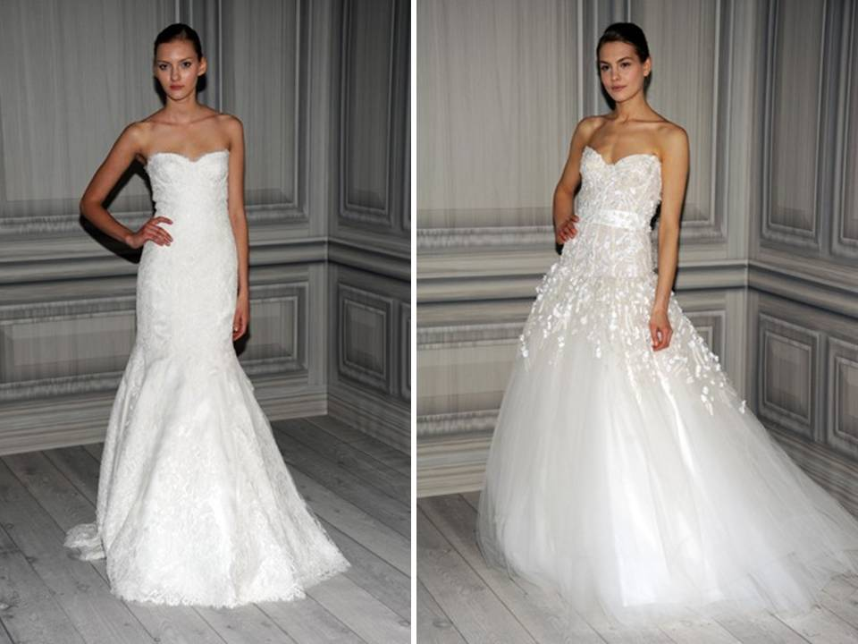 Credit Spring 2012 Monique Lhuillier wedding dresses via WWDcom