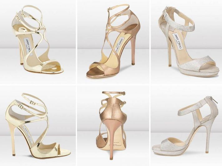 On-trend metallic bridal heels from Jimmy Choo's new bridal collection