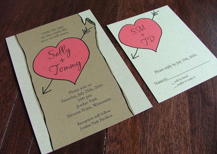 Bright and vibrant eco-friendly recycled wedding invitations for spring and summer weddings