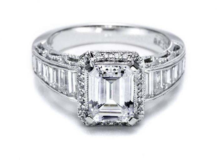 Tacori engagement ring like KIm Kardashian's 20.5 carat emerald cut stunner