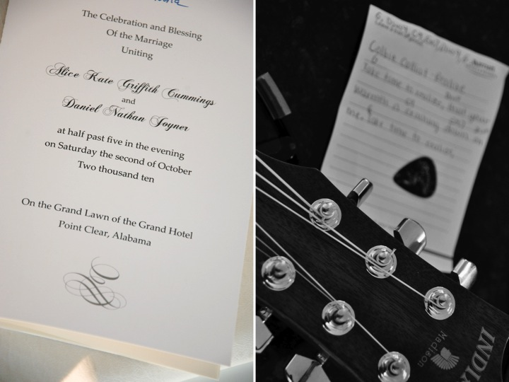 Classic ivory letterpress wedding invitations with black calligraphy