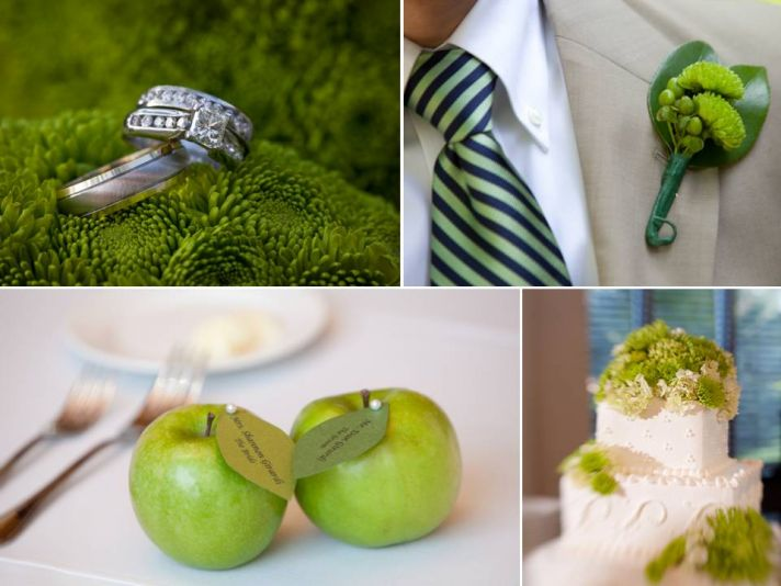 Apple-themed Florida wedding and dazzling diamond engagement ring photos