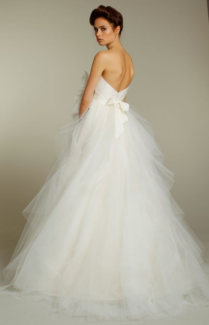Romantic fall 2011 wedding dresses by blush onewed for Blush tulle wedding dress