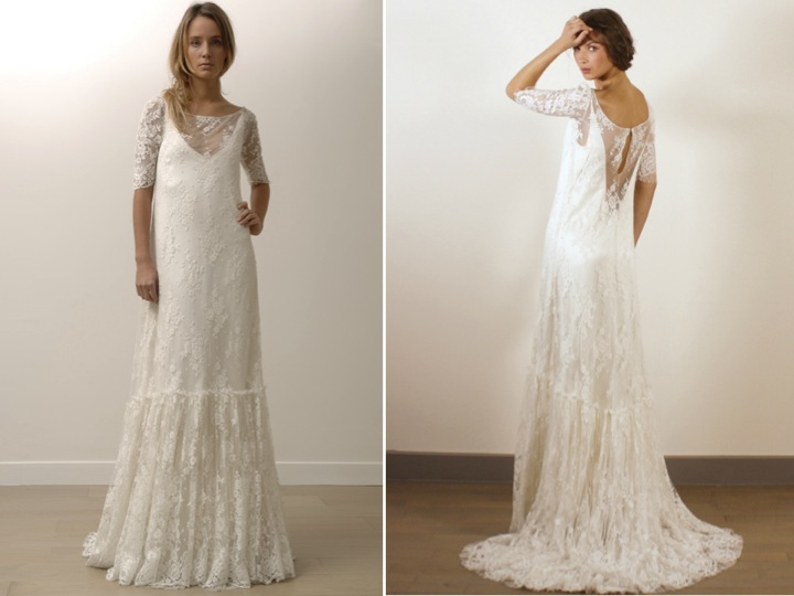 Tanya 39 s blog romantic modified aline lace wedding dresses for Vintage wedding dress designers