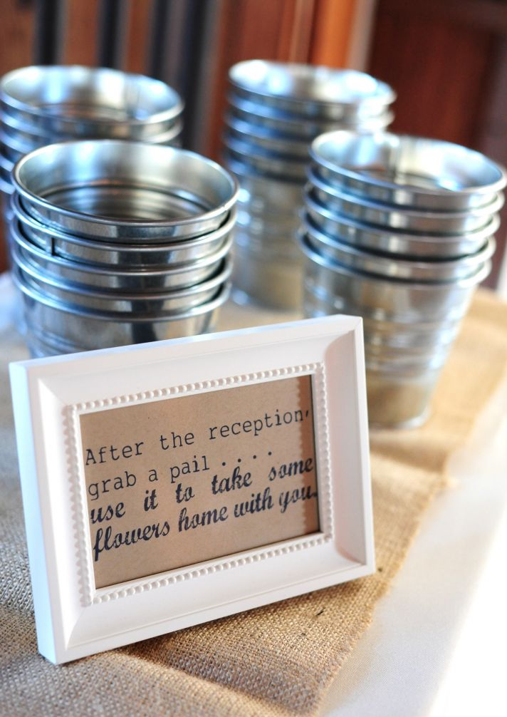 Rustic real wedding in South Carolina- wedding guest favors with personalized details