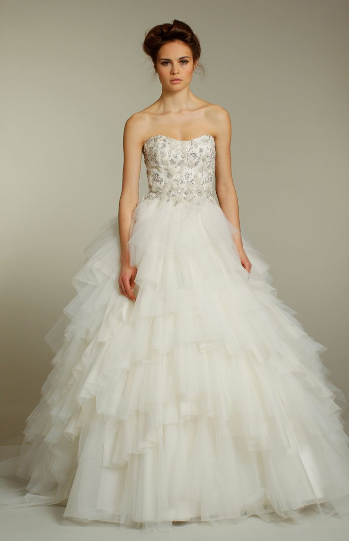 Ethereal wedding dresses by jim hjelm fall 2011 onewed for Romantic ethereal wedding dresses