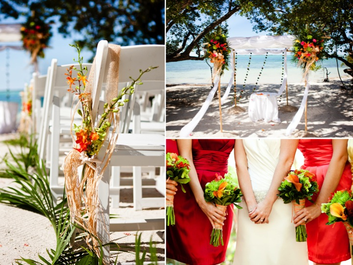 Beachthemed wedding reception escort card table