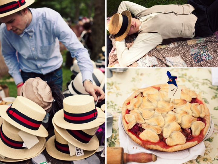 Casual summer wedding idea a roaring 1920 39s outdoor reception with live