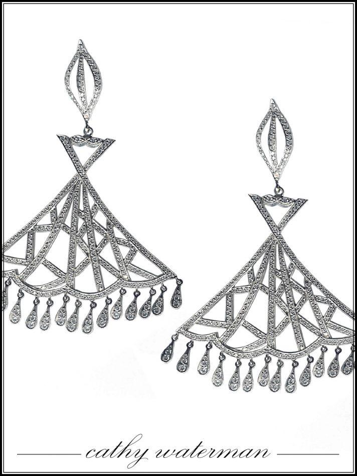 Chandelier bridal earrings by Cathy Waterman