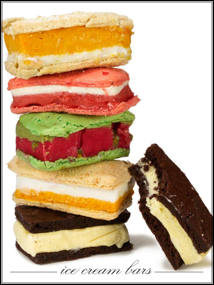 Delicious ice cream bars for wedding reception dessert table