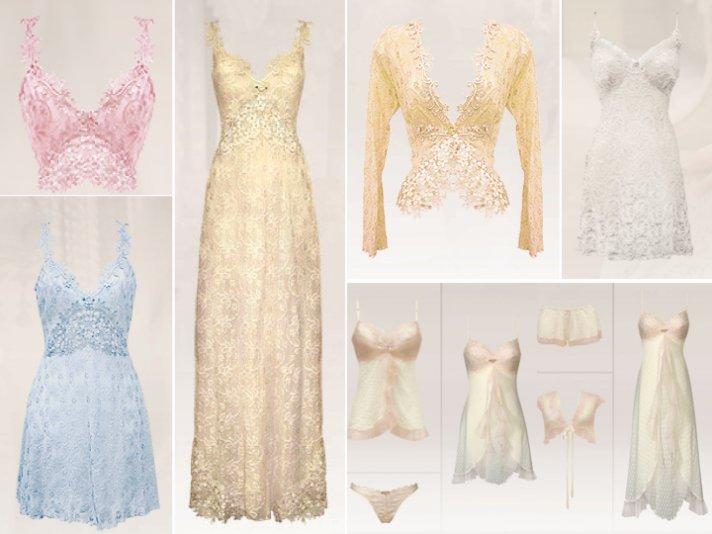 Romantic boho wedding lingerie